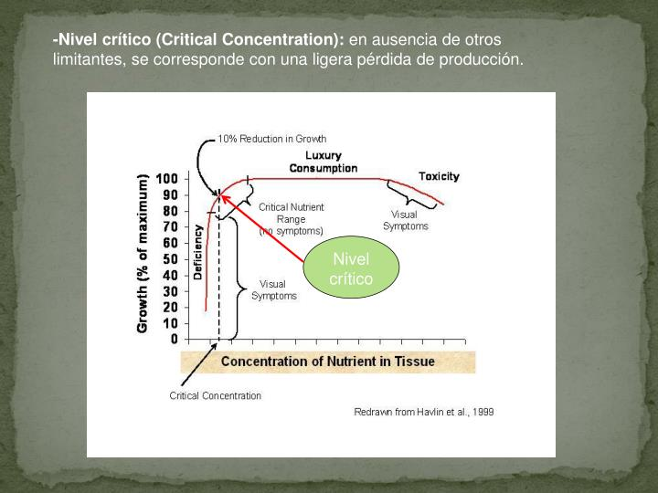 -Nivel crítico (Critical Concentration):