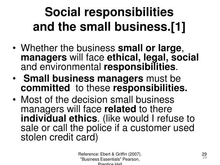 Social responsibilities