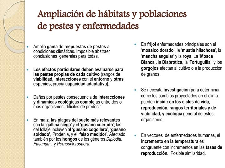 Ampliación de hábitats y poblaciones