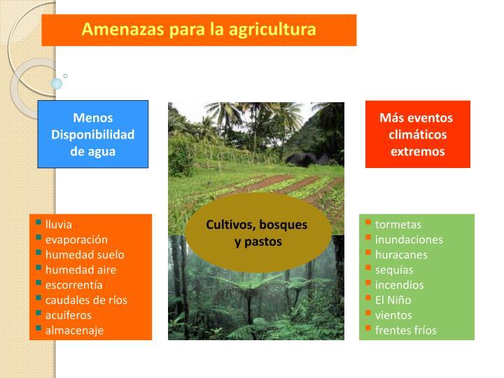 Amenazas para la agricultura