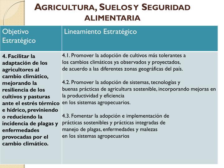 Agricultura, Suelos y Seguridad alimentaria
