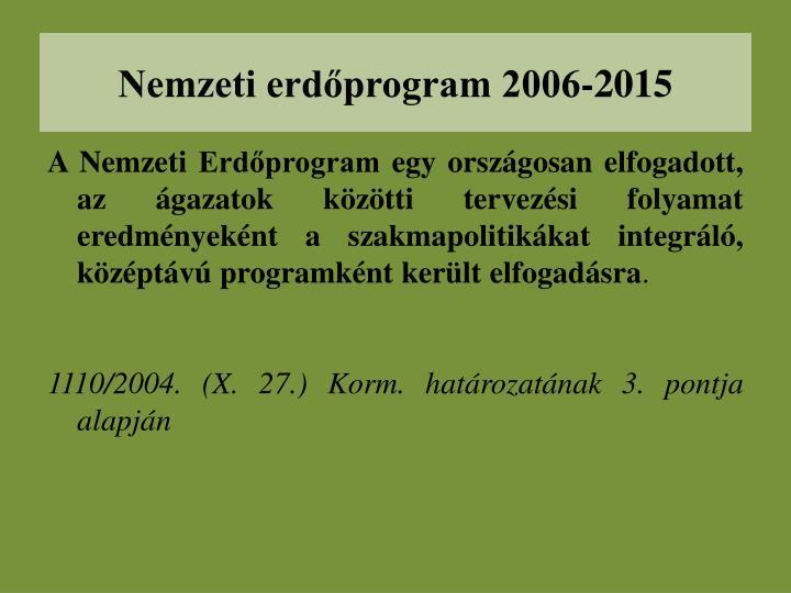 Nemzeti erdőprogram 2006-2015