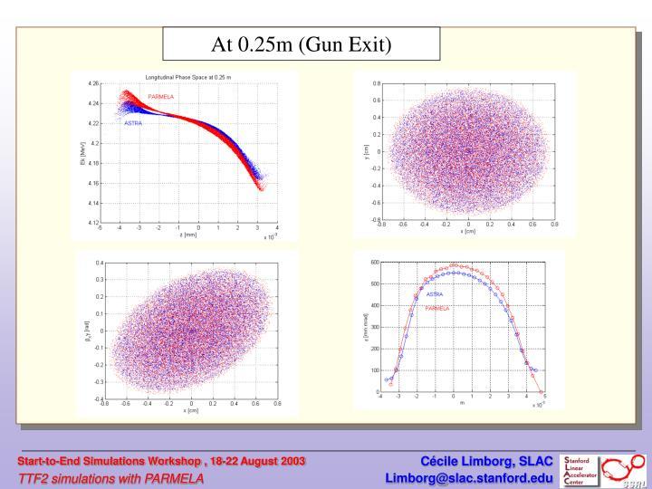 At 0.25m (Gun Exit)