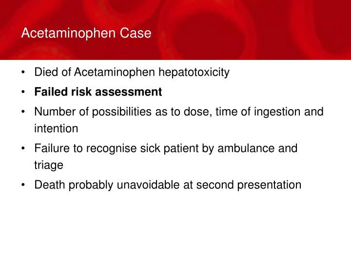 Acetaminophen Case