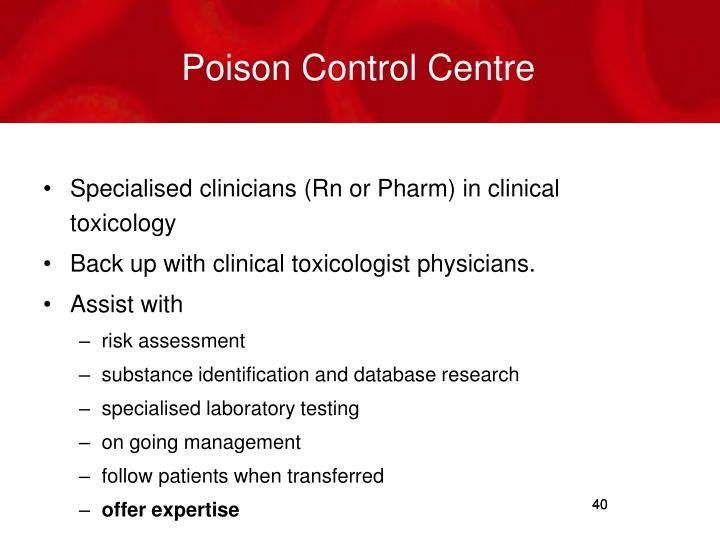 Poison Control Centre