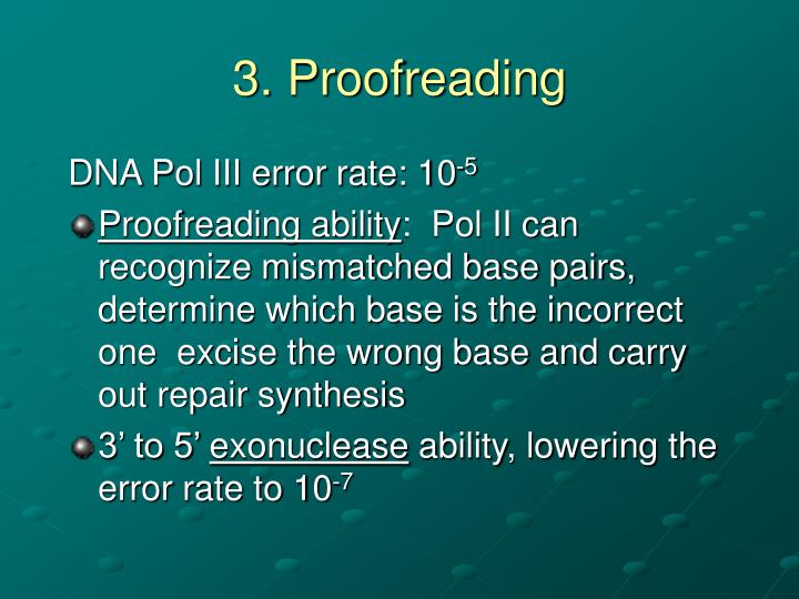 3. Proofreading