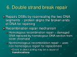 6 double strand break repair