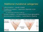 additional mutational categories