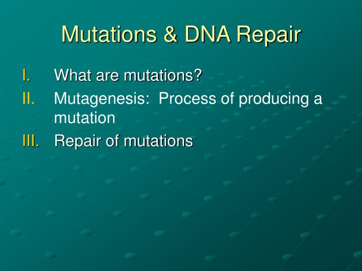 Mutations dna repair