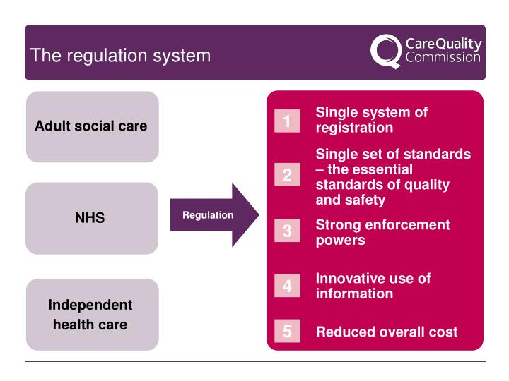 The regulation system