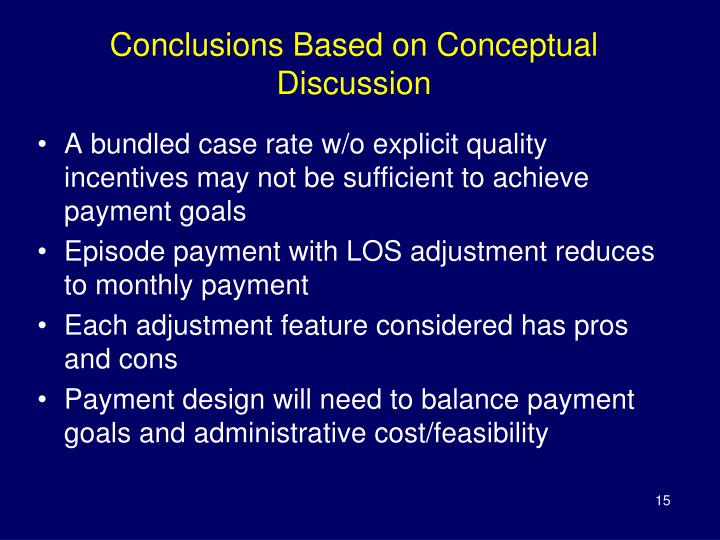 Conclusions Based on Conceptual Discussion