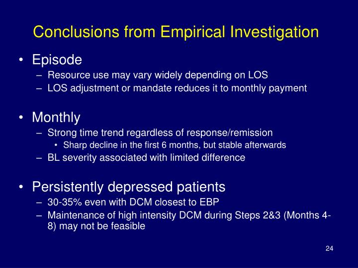 Conclusions from Empirical Investigation