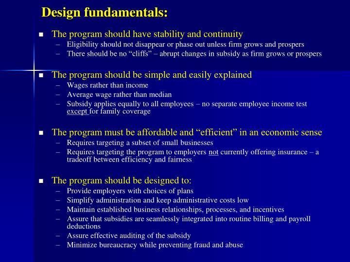 Design fundamentals: