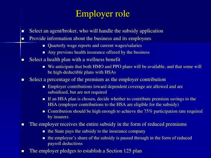 Employer role