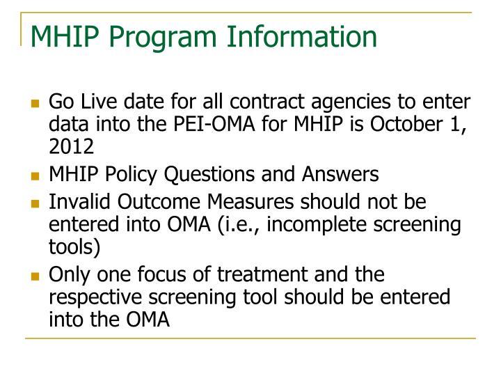 MHIP Program Information