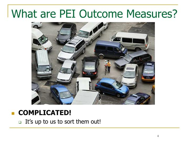 What are PEI Outcome Measures?