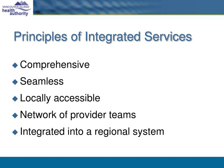Principles of integrated services