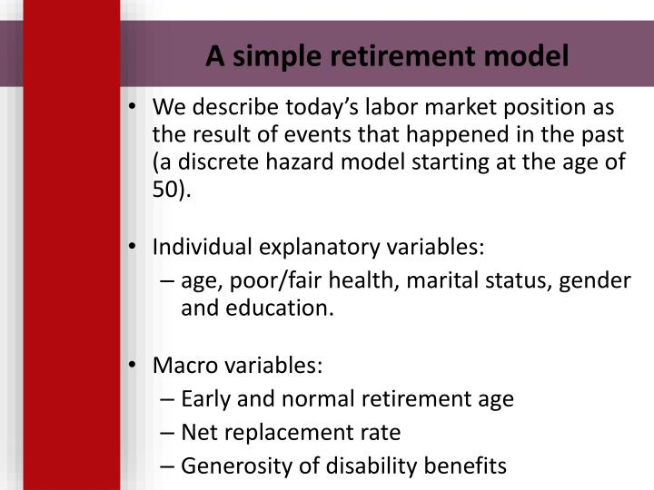 A simple retirement model