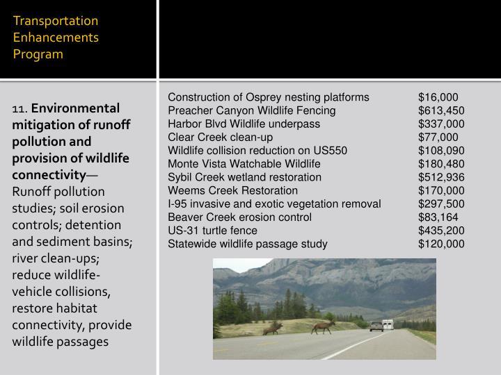 Transportation Enhancements Program