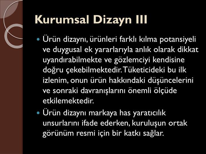 Kurumsal Dizayn III