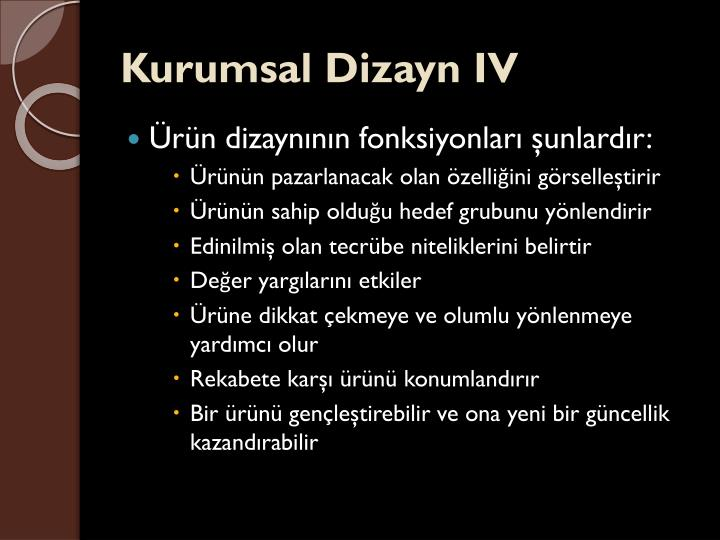 Kurumsal Dizayn IV