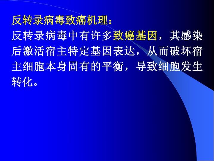 反转录病毒致癌机理: