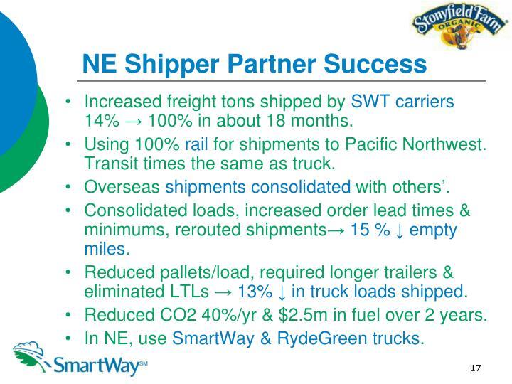 NE Shipper Partner Success