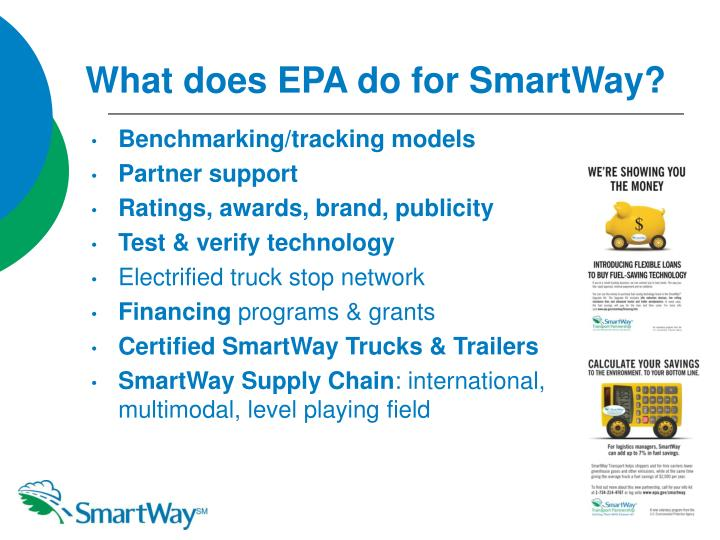 What does EPA do for SmartWay?