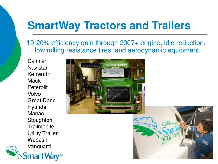 SmartWay Tractors and Trailers