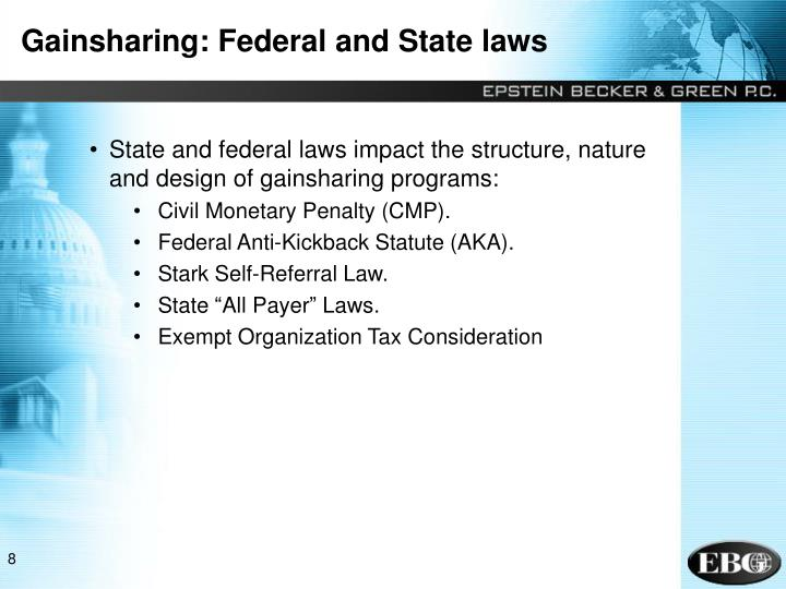 Gainsharing: Federal and State laws