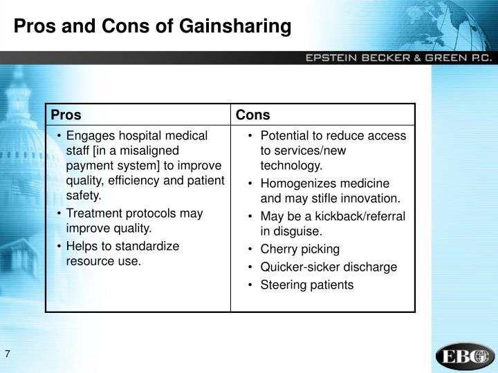 Pros and Cons of Gainsharing
