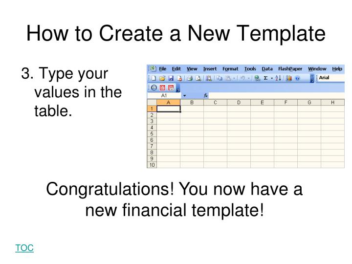 How to Create a New Template