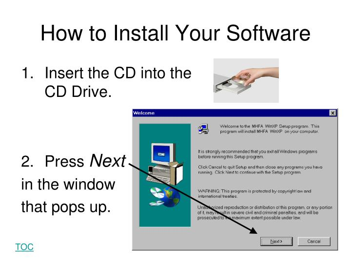 How to Install Your Software