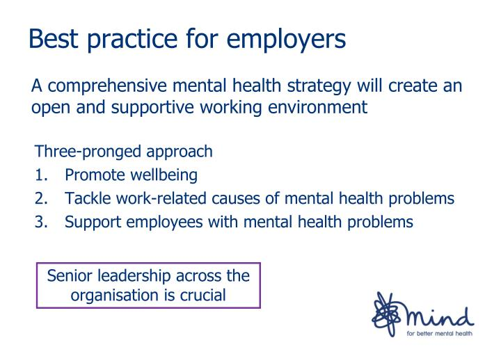 Best practice for employers