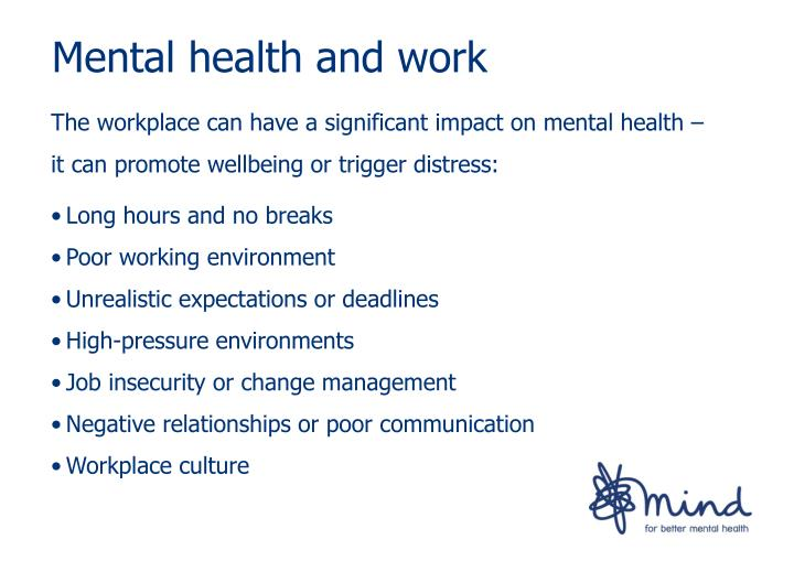 Mental health and work
