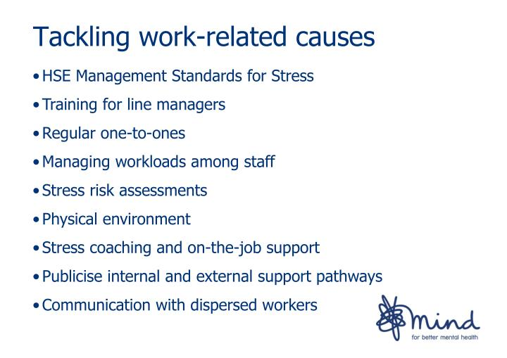 Tackling work-related causes
