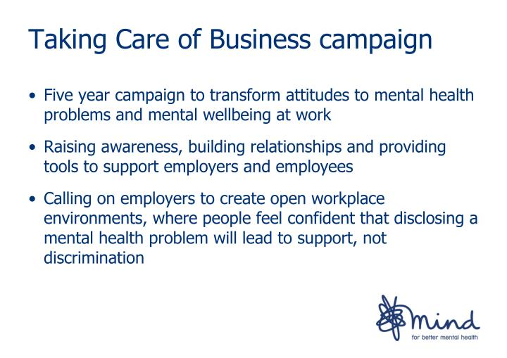 Taking Care of Business campaign
