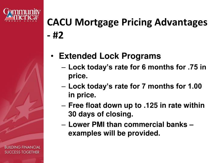 CACU Mortgage Pricing Advantages - #2
