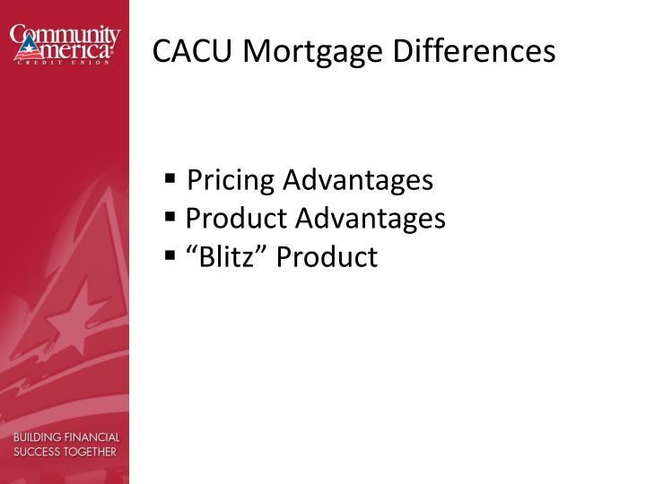 CACU Mortgage Differences