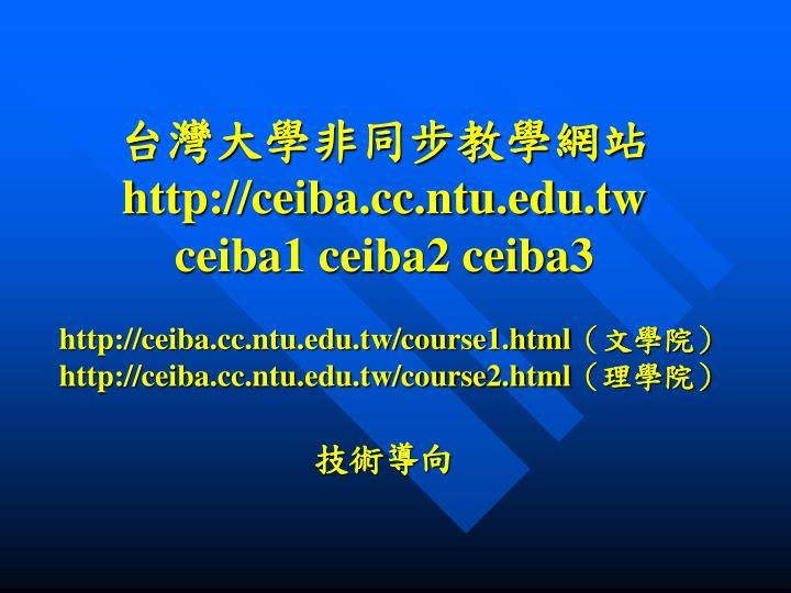 台灣大學非同步教學網站