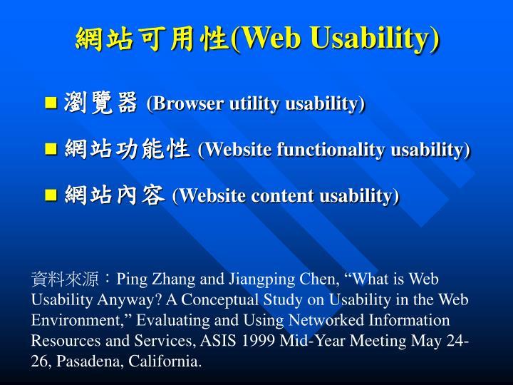 網站可用性