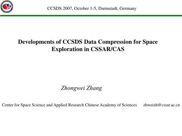 Developments of ccsds data compression for space exploration in cssar cas