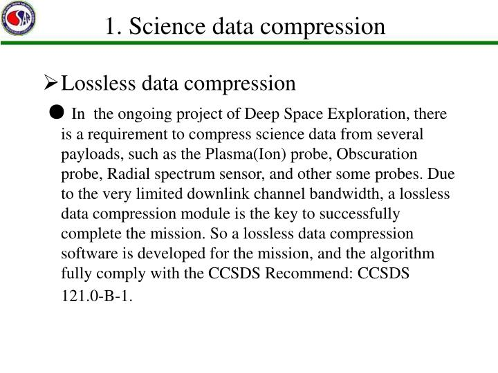 1. Science data compression