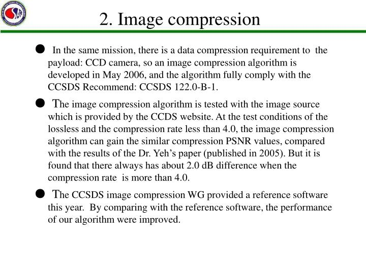 2. Image compression