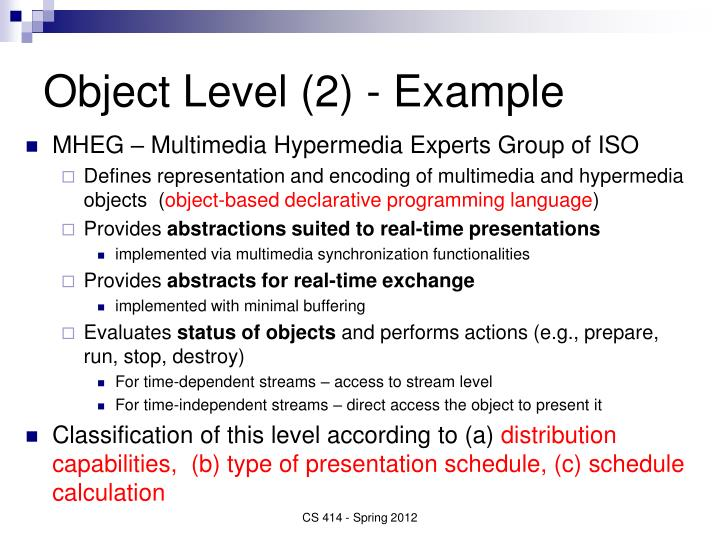 Object Level (2) - Example