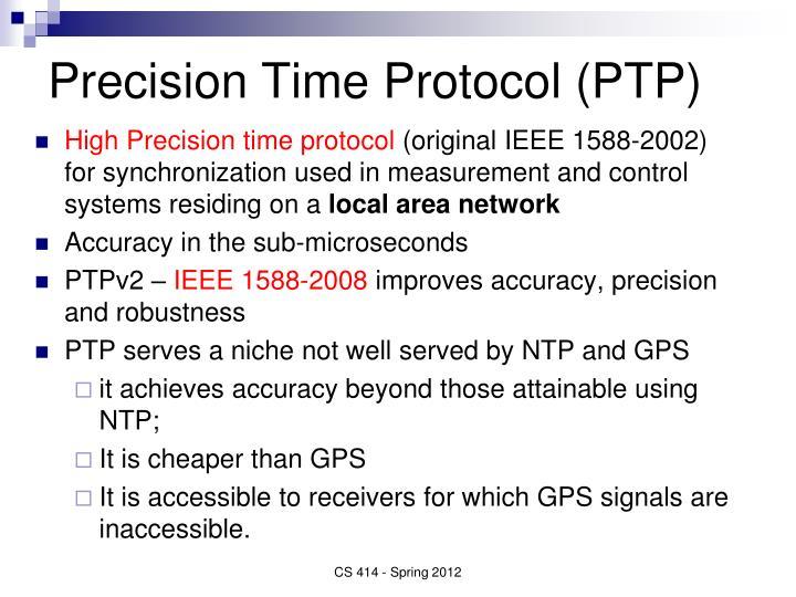 Precision Time Protocol (PTP)