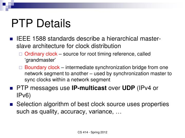 PTP Details