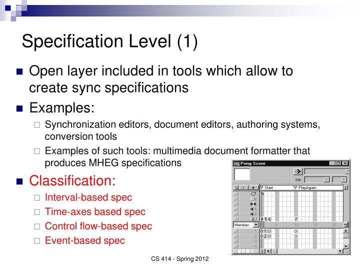 Specification Level (1)