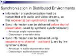 synchronization in distributed environments