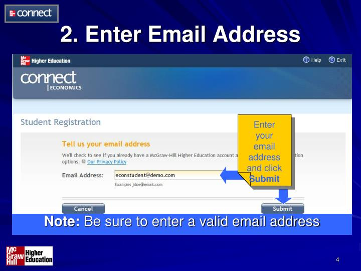 2. Enter Email Address